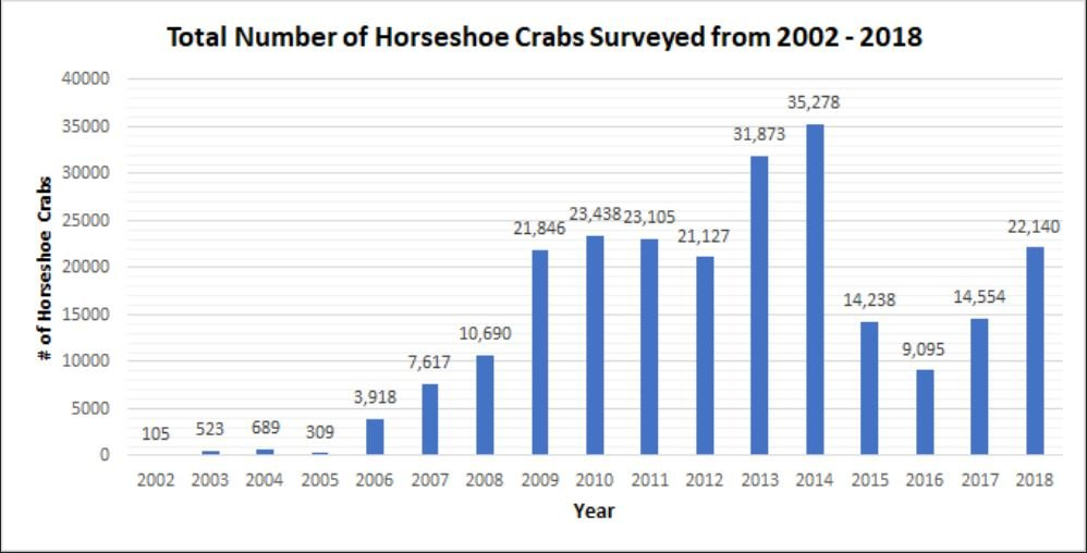Total Horseshoe Crabs Numbers